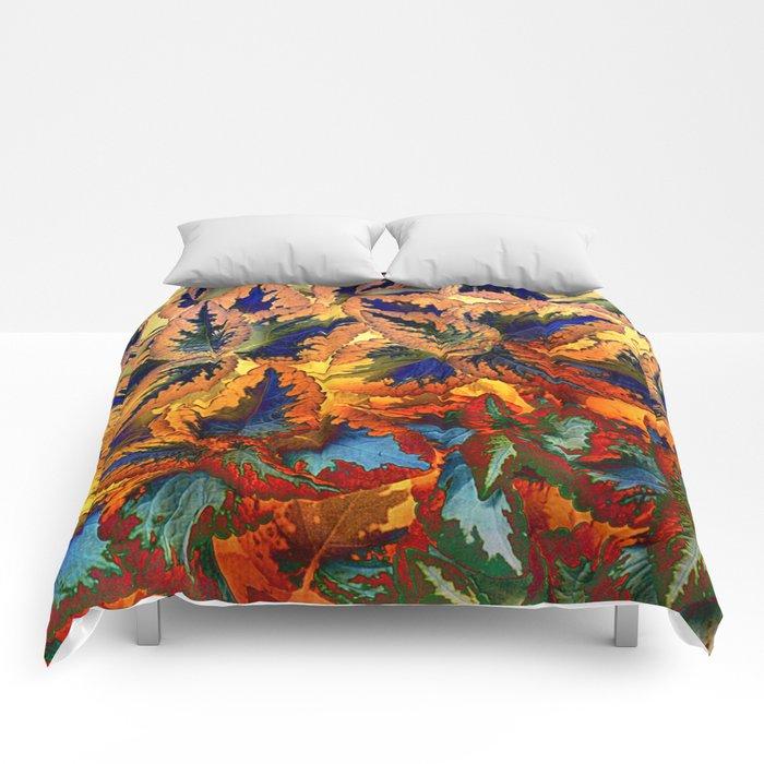 colorful foliage Comforters