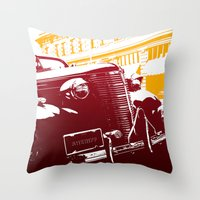 law Throw Pillows featuring The Law by Steel Graphics