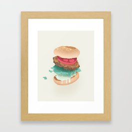 Burger Porn Framed Art Print