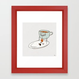 Tea Baggin' Framed Art Print
