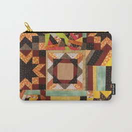 Quilt, Fall Colored Quilt Pattern Carry-All Pouch