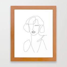 Abstract Beauty Outline Framed Art Print