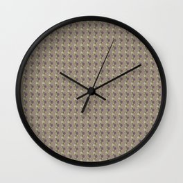 Flower gray Wall Clock