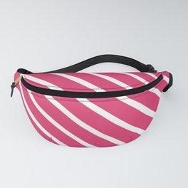 Pink Freesia Diagonal Stripes Fanny Pack