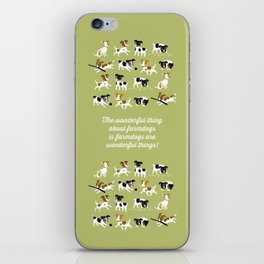 Farmdogs are wonderful things iPhone Skin