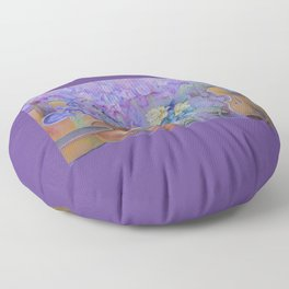 MAGIC VIOLIN Ultraviolet pastel composition inspired by music and farytale Floor Pillow