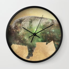 Surreal Buffalo Wall Clock