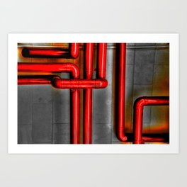 In The Pipes Art Print
