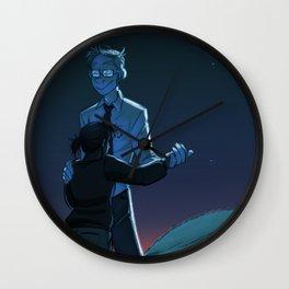 Portal Blue Sky: Like Real People Do Wall Clock