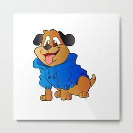 fashion dog Cartoon . Metal Print