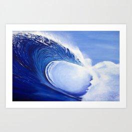 Ocean Wave Painting Art Print