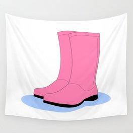 Rainy boots Wall Tapestry