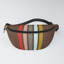 Stripes on Brown Fanny Pack