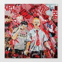 shaun of the dead Canvas Prints featuring Shaun of the dead by Lanka69