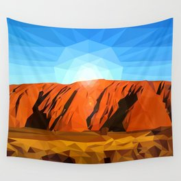 Uluru the Mighty Dreamer - Ayers Rock, Outback - Australia Wall Tapestry