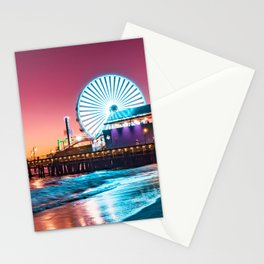 Santa Monica's Pacific Wheel Sunset (Pacific Park) Stationery Cards