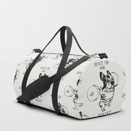 Shut Up and Squat French Bulldog Duffle Bag