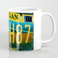 michigan Mugs featuring Michigan by Vivian Fortunato