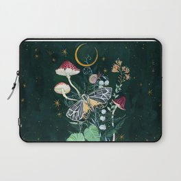 Mushroom night moth Laptop Sleeve