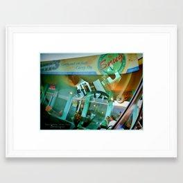 Windshield Reflection  Framed Art Print