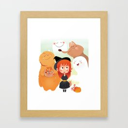 HALLOWEEN- trick ot treat? Framed Art Print