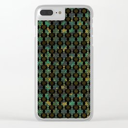Endless Knot Pattern - Gold and Marble Clear iPhone Case