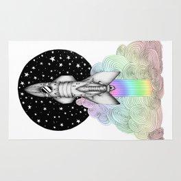 Super Magic Rainbow Dream Rocket Rug