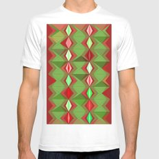 Waterbomb Holiday Colors White Mens Fitted Tee MEDIUM