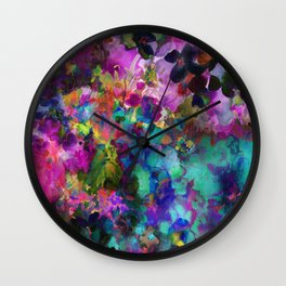 Roses and Wildflowers Wall Clock