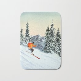 Skiing The Clear Leader Bath Mat