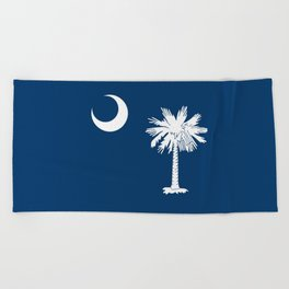 flag south carolina,america,us,Savannah,Palmetto,Carolinian,cotton,Confederate,Goose Creek,Rock Hill Beach Towel