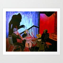 Nosferatu feat. West Edge String Quartet @ Scottish Rite Temple- 24 October, 2013 Art Print