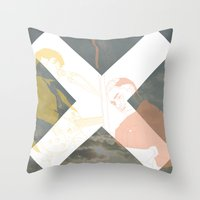 the xx Throw Pillows featuring XX by Itxaso Beistegui Illustrations