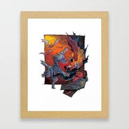 Werewolf vs Vampire Framed Art Print