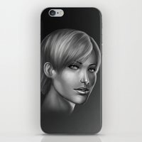 no face iPhone & iPod Skins featuring Face by clayscence