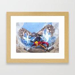Sage Art : Spiraling Thunderstorm Shuriken Framed Art Print