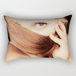 gold look Rectangular Pillow