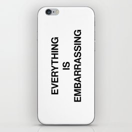 Everything Is Embarrassing / Sky Ferreira iPhone Skin