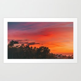 Small Town Sunsets01 Art Print