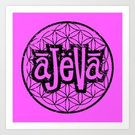 Ajeva Logo Pink Art Print