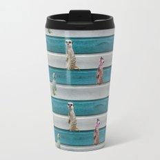 Meercat Beach Stripes Travel Mug