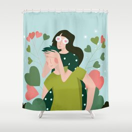 14 February - Couple in Love Shower Curtain