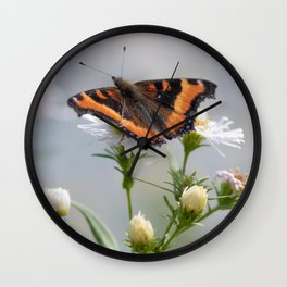 Butterfly By The Channel Wall Clock
