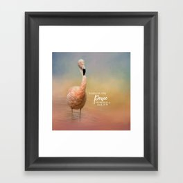 Finding Peace Framed Art Print
