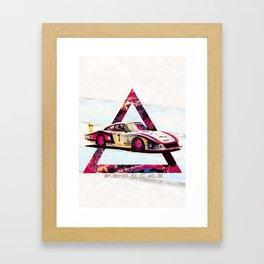 "Porsche 935/78 ""Moby Dick"" // Le Mans Race Cars Framed Art Print"