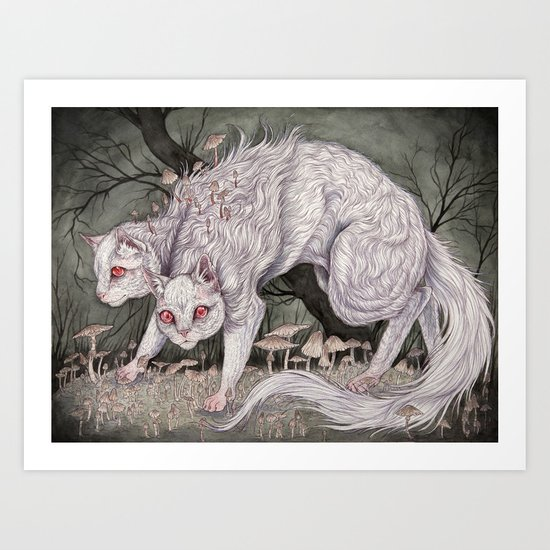 Albinism piece  Art Print