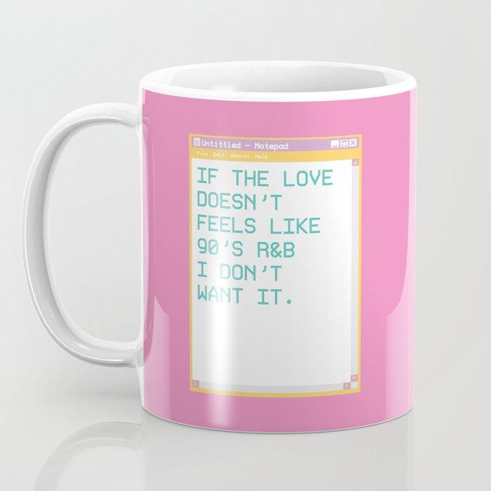 notepad'95 Fuschia Coffee Mug