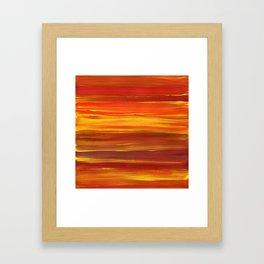 Sunset stratum Framed Art Print