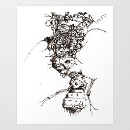 Roller bot Art Print