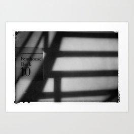 PENTHOUSE STAIRCASE Art Print